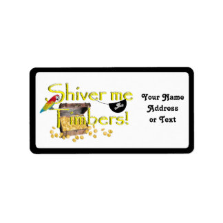 SHIVER ME TIMBERS! - Text w/Pirate Chest Custom Address Labels