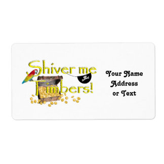 SHIVER ME TIMBERS! - Text w/Pirate Chest Personalized Shipping Label