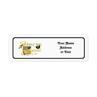 SHIVER ME TIMBERS! - Text w/Pirate Chest Return Address Label