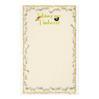 SHIVER ME TIMBERS! - Text w/Pirate Chest Personalized Stationery
