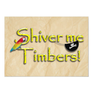 SHIVER ME TIMBERS! Text with Parrot & Eye Patch Announcement