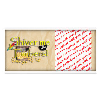 SHIVER ME TIMBERS! Text with Pirate Chest Card
