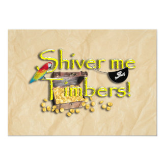 SHIVER ME TIMBERS! Text with Pirate Chest Invites
