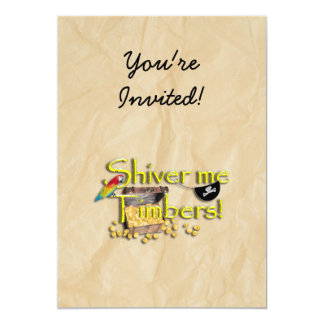 SHIVER ME TIMBERS! Text with Pirate Chest Custom Announcement