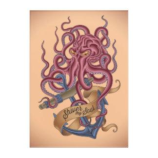 Shiver My Soul | Octopus Tatto Acrylic Wall Art