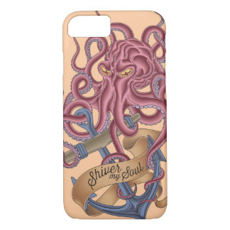 Shiver My Soul   Octopus Tatto iPhone 8/7 Case