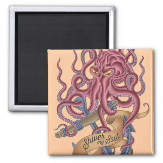 Shiver My Soul | Octopus Tatto Magnet