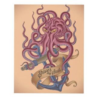 Shiver My Soul | Octopus Tatto Panel Wall Art
