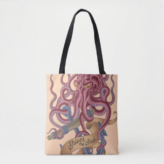 Shiver My Soul | Octopus Tatto Tote Bag