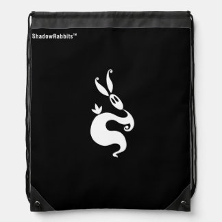 Shiver the Shadow Rabbit Drawstring Bag