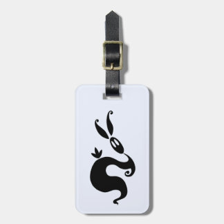 Shiver the Shadow Rabbit Luggage Tag