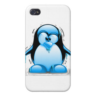 Shivering Cold Blue Tux iPhone 4/4S Cases
