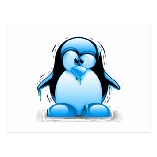 Shivering Cold Blue Tux Postcards