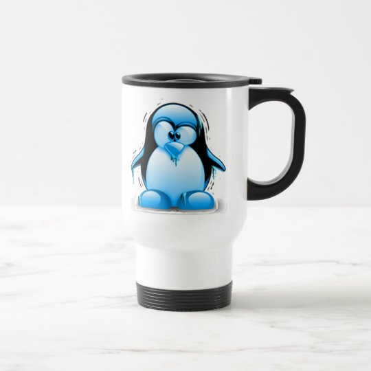 Shivering Cold Blue Tux Travel Mug
