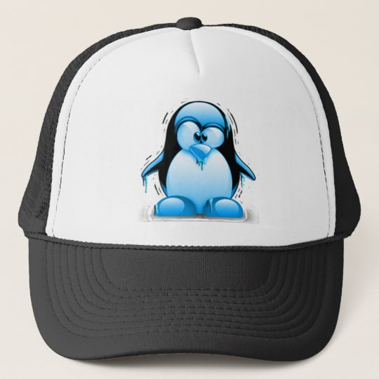 Shivering Cold Blue Tux Trucker Hat