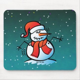 Shivering Snowman Mouse Pad