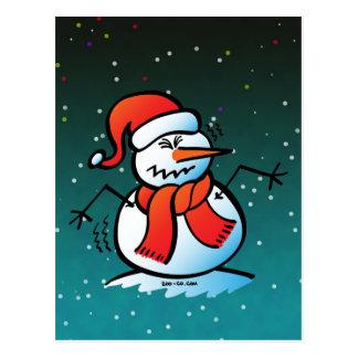 Shivering Snowman Postcard