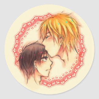 Shizaya - Forehead kiss Classic Round Sticker