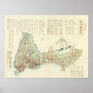 Shizuoka-ken, JapanPanoramic Map Print