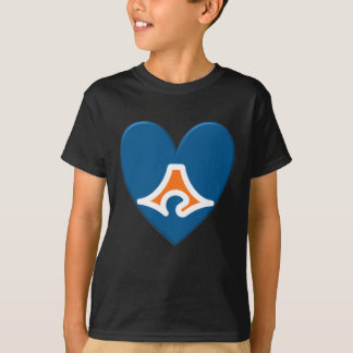 Shizuoka Prefecture Flag Heart T-Shirt
