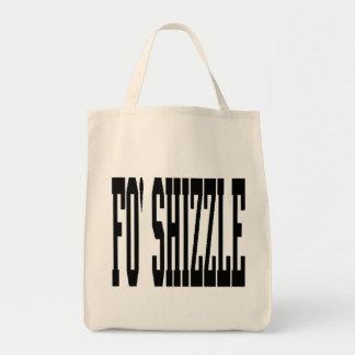 shizzle del fo (negro) bolsa tela para la compra