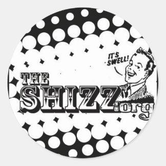 shizzlogo classic round sticker