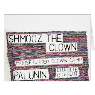 Shmooz the Clown drawing Card