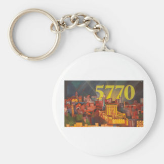 Shnat 5770 basic round button keychain
