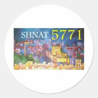 Shnat 5771 classic round sticker