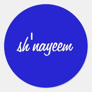 sh'nayeem classic round sticker