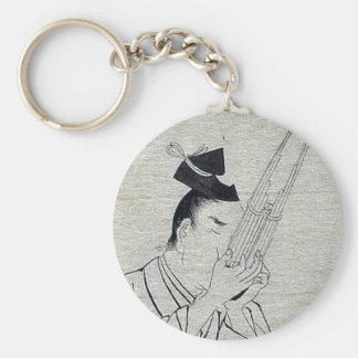 Shō (Ch mus inst) - musician of higher rank Ukiyo- Keychain
