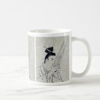 Shō (Ch mus inst) - musician of higher rank Ukiyo- Coffee Mug