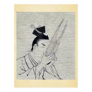 Shō (Ch mus inst) - musician of higher rank Ukiyo- Postcards