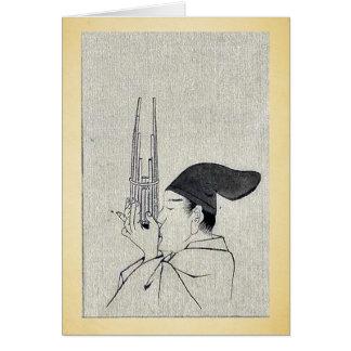 Shō (inst musical chino) Ukiyo-e. Tarjeta De Felicitación