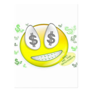 Sho Me The Benjamin s Smiley Face Postcard