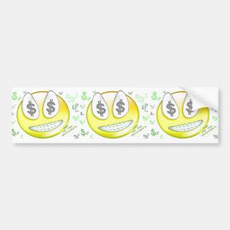 Sho' Me The Benjamin's Smiley Face Bumper Sticker
