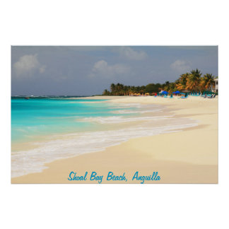 Shoal Bay Beach, Anguilla Poster