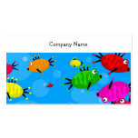 Shoal of Fish, Company Name Double-Sided Standard Business Cards (Pack Of 100)