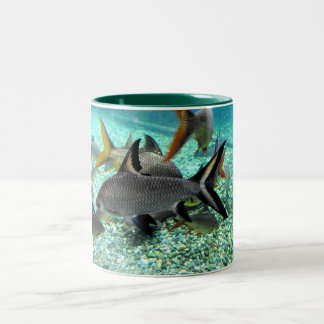 Shoal of fish in springtime, Spain Two-Tone Coffee Mug