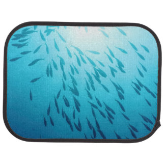 Shoal of fishes car mat