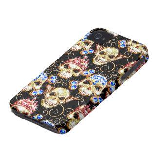 Shock & Awe Bling Skulls iPhone 4/4S Case