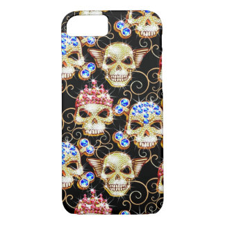 Shock & Awe Bling Skulls iPhone 7 case