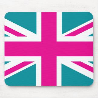 Shock Pink Union Jack British(UK) Flag Mouse Pad
