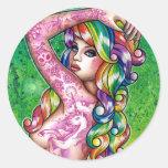 Shock Tart Rainbow Pin Up Girl Sticker