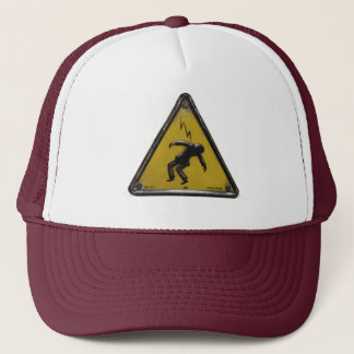 shock trucker hat