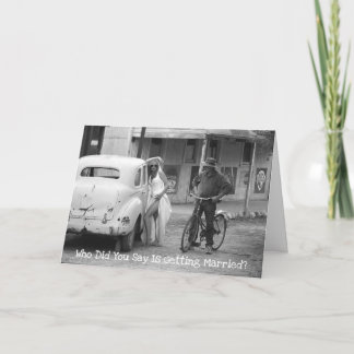 Shock Wedding Announcement Greeting Card