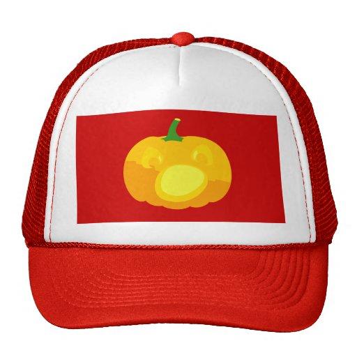 Shocked and Surprised Jack-O-'Lantern Mesh Hat