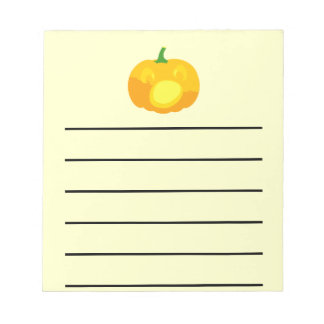 Shocked and Surprised Jack-O-'Lantern Notepad
