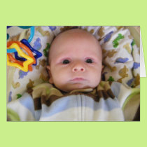 SHOCKED BABY-THE LOOK SAYS IT ALL 5Oth HUMOR Card