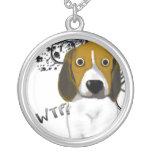 Shocked Beagle Round Pendant Necklace